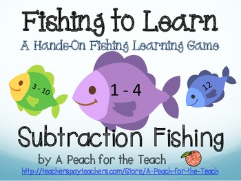 Subtraction Facts Fishing - Self-Correcting with Facts to 11