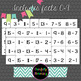 Subtraction Facts Flash Cards 0-9: Self-Checking!