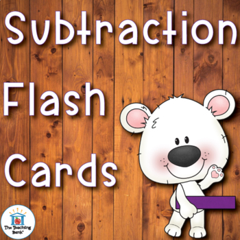 Subtraction Facts Flash Cards and Assessments