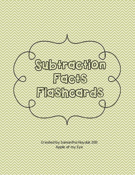 Subtraction Facts Flashcards