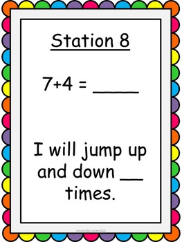 Addition and Subtraction Facts Fluency Kinesthetic Exercise Activity BUNDLE