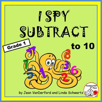 I SPY to 10 | Subtraction PUZZLES | Grade 1 | Practice - R