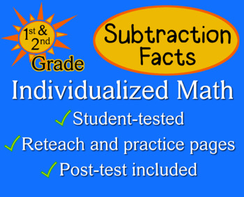 Subtraction Facts - Individualized Math - worksheet set / pack