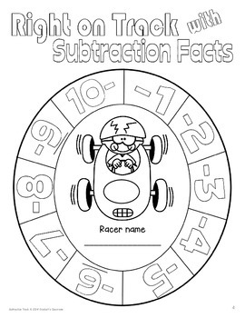 Subtraction Facts Mastery; Right On Track