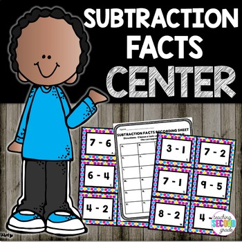 Subtraction Facts Math Center Set 1