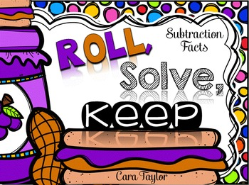 Subtraction Facts Math Game