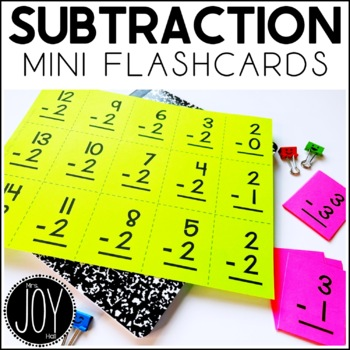 Subtraction Facts Mini Flashcards- Separated by Number Sets