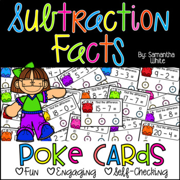 Subtraction Facts {Poke Cards}