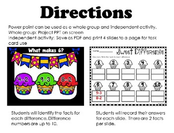 Subtraction Facts Power Point