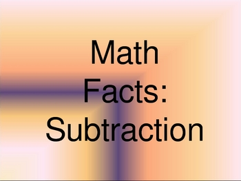 Subtraction Facts PowerPoint
