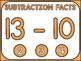 Subtraction Fact Fluency Practice 0-12 Digital FlashCards Interactive PDF Bundle