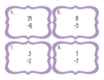 Subtraction Facts Task Card - 4 Set Bundle
