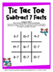 Subtraction Free: Subtraction Facts Tic Tac Toe Math Games