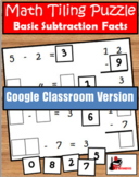 Subtraction Facts Tiling Puzzle - Distance Learning Versio