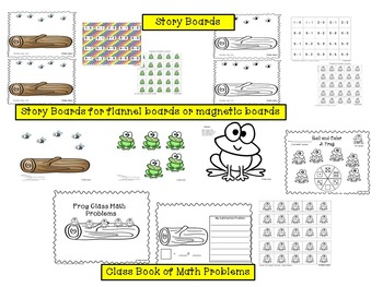 Subtraction Facts With 5 Green and Speckled Frogs Fingerplay/Song