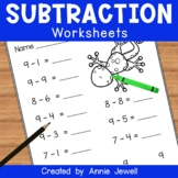 Subtraction Practice Worksheets for Kindergarten and 1st Grade