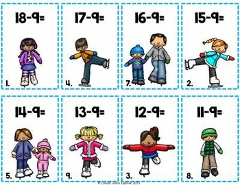Subtraction Fact Review Activity for Regrouping