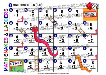 Subtraction Facts to 10 Game