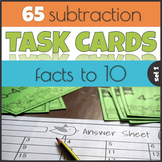 Subtraction Facts to 10 Task Cards Mastering Math Facts