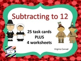Subtract to 12---Thanksgiving Theme