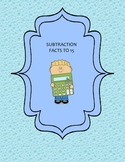 Subtraction Facts to 15 Write-On/Wipe-Off Booklet