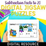 Subtraction Facts to 20 Digital Math Facts Jigsaw Puzzles