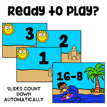Subtraction Facts to 20 Math Game - WipeOut - Fact Fluency | TpT