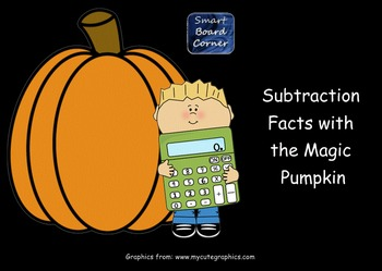 Fall Theme Subtraction Facts with the Magic Pumpkin Smart Board Lesson