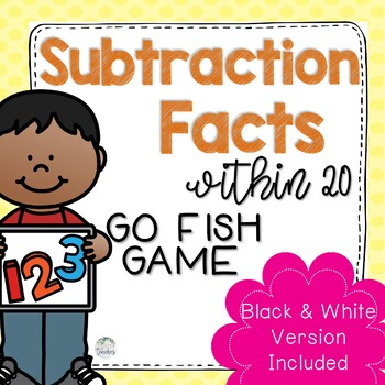 Subtraction Facts within 20 Go Fish Game