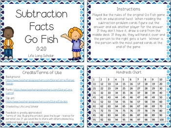 Subtraction Facts within 20 Go Fish (TEKS 2.4A)