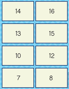 Subtraction Facts within 20 Memory Game