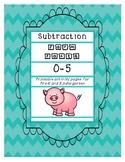 Subtraction Farm Facts 0-5