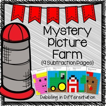 Subtraction Farm Mystery Picture