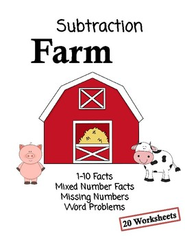 Subtraction Farm - Number Line Worksheets