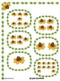 Subtraction File Folder Math Center - 2 less than  Flower