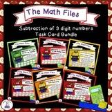 Subtraction Files - Three Digit Subtraction Task Cards Bundle