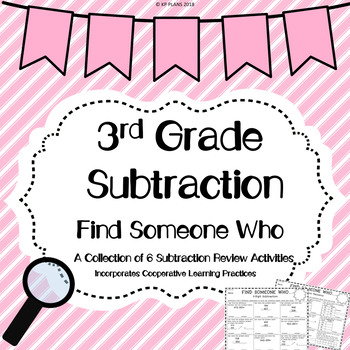 Subtraction Find Someone Who Activity