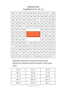 Subtraction Find the Answers