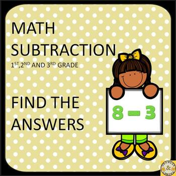 Subtraction Find the Answers (fun subtraction worksheets)