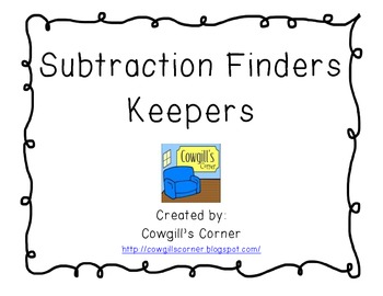 Subtraction Finders Keepers