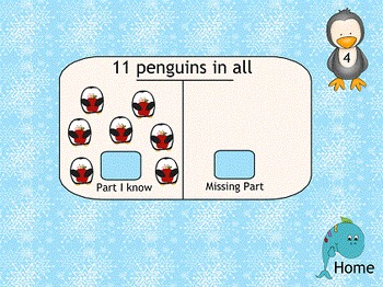 Subtraction Finding Missing Parts SMART Board Lesson