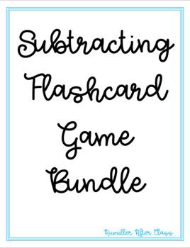 Subtraction Flash Card Game Bundle