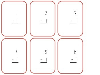 Subtraction Flash Cards (0's-12's)