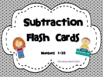 Subtraction Flash Cards 1-20