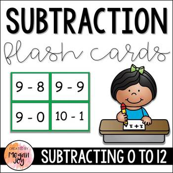 Subtraction Facts Flash Cards
