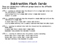 Subtraction Flash Cards - 4 Difficulty Levels - Subtractin