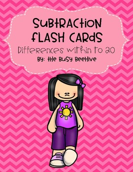 Subtraction Flash Cards: Differences within 20