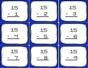 Subtraction Flash Cards Freebie