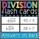Division Flash Cards - Math Facts 0-12 Flashcards - Printable