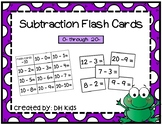 Subtraction Flash Cards - Math Flash Cards